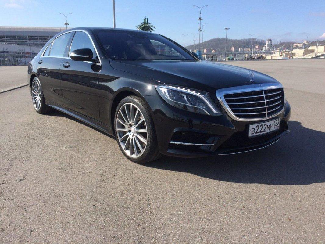 Аренда VIP авто с водителем Mercedes Benz S222 черный